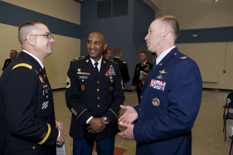 veterans conversing