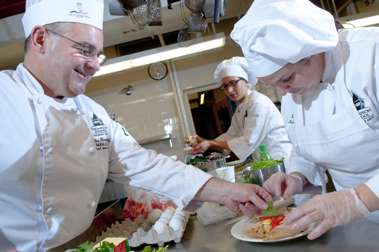 TSAS Culinary chefs at work in the kitchen