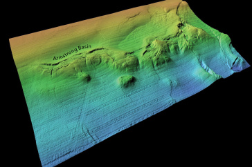 multicolored image of seafloor feature