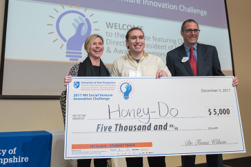 Andrew DeMeo '18 wins NH Social Venture Innovation Challenge