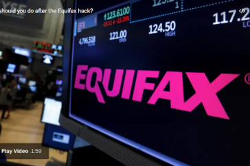 Equifax logo on a screen