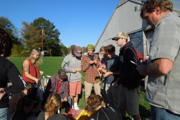 UNH students in an outdoor class