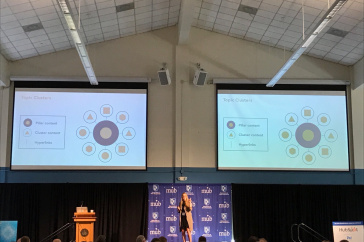 Linsay Thibeault '09 of Hubspot at the Digital Marketing Symposium