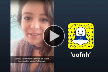 """Madeline Tota '18 takes over the """"uofnh"""" Snapchat account"""