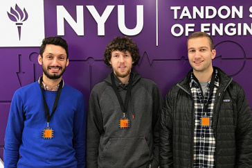 UNH students at NYU's Embedded Security Challenge