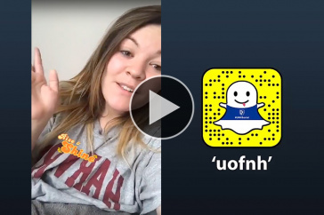 """UNH student Raina Langlois '18 takes over the """"uofnh"""" Snapchat account"""
