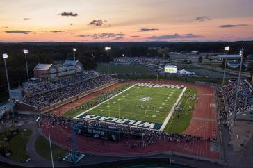 aerial view of UNH's Wildcat Stadium