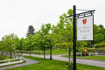 The entrance to St. Paul's School
