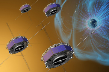 Artist depiction of MMS satellites