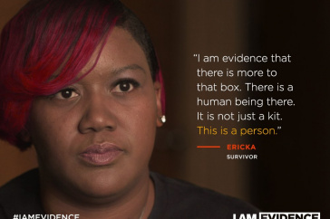 "An image from the documentary ""I Am Evidence"""