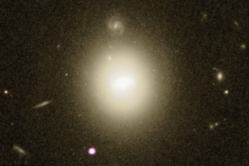 Picture of the remnants of a star that was ripped apart by a black hole.