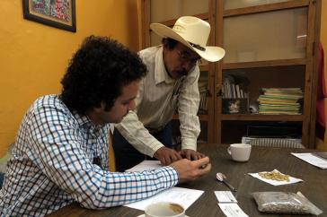 Shadi Atallah works with coffee grower