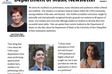 Music Newsletter cover