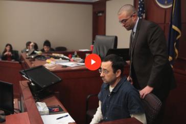 Larry Nassar during his sentencing