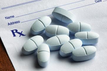 pills on a prescription sheet