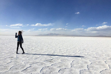 UNH student Claire McCarthy '18 during a study abroad experience in Argentina