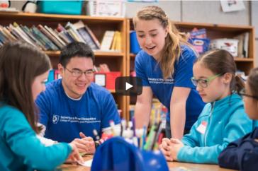 UNH STEMbassadors in a New Hampshire grade school classroom