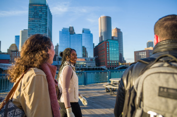 UNH students taking part in Semester in the City in Boston