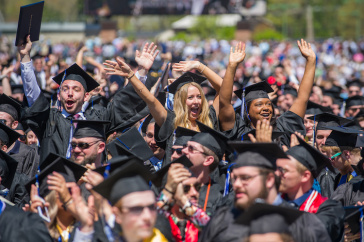 Students at 2019 commencement