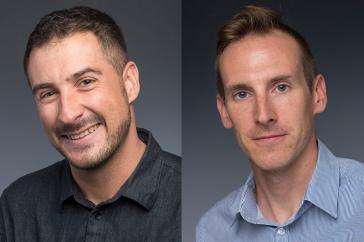headshots of Casey Golomski and Paul Robertson