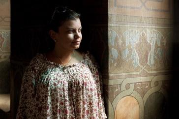 woman in doorway