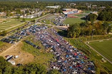 Ariel view of Boulder Field on Homecoming Weekend