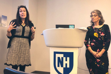 Prevention Innovations and UNH's Potter and Stapleton speaking at a seminar