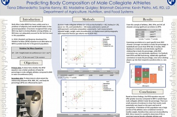 UNH Nutrition students winning poster