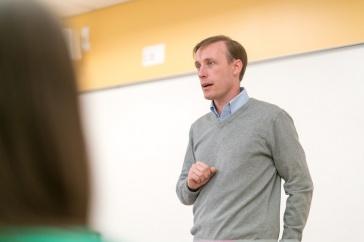 Jake Sullivan teaching a class at the Carsey School