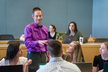 Jonathan Nash teaches an accounting class