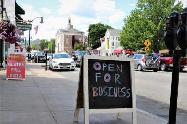 A sign stating Open for Business