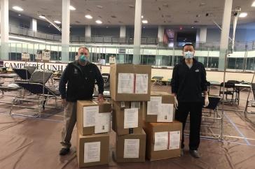 Ron O'Keefe and Yige Wang at the NH ER Center