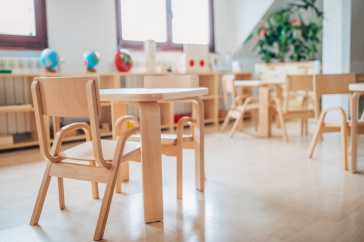 Image of chairs at a day care facility