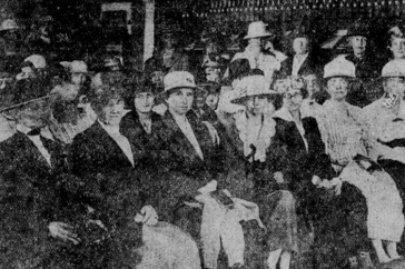 newspaper photo of women who attended the School