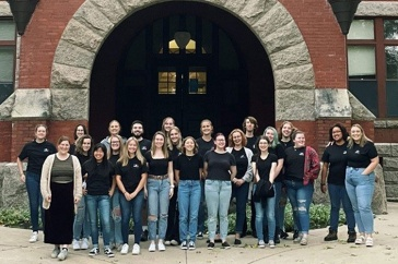 French Club in front of Thompson Hall