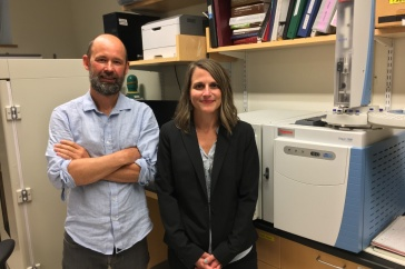Stuart Grandy, professor of soil biogeochemistry and fertility, and Paula Mouser, associate professor of civil and environmental engineering, have received a two-year USDA equipment grant for $323,025 to purchase an ultra-high-performance high resolution liquid chromatography-tandem mass spectrometry instrument (UHPLC-MS/MS) similar to the instrument here.