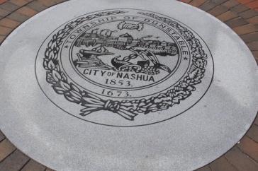 A Photograph of Nashua City Hall Plaque