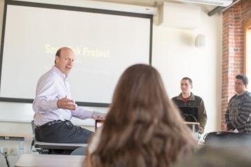 James Ramsay teaches a homeland security course at UNH Manchester
