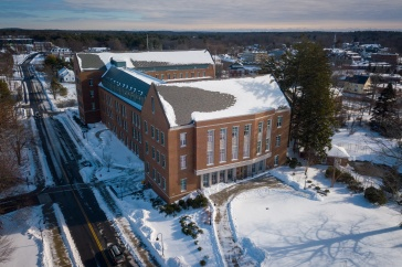 Paul College in snow