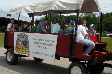 Granite State Dairy Promotion farm wagon with people