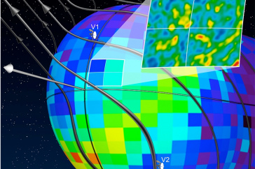 Image of current mapping of heliosphere