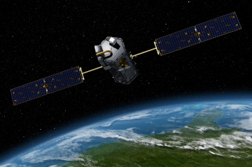 Artist rendering of OCO-2 Observatory used in the UNH research