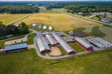 Aerial photo of UNH Fairchild Dairy Teaching and Research Center