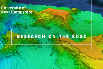 "A map graphic with the words ""Research on the Edge"""