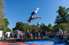 gymnastics at UNH University Day