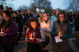 UNH students hold vigil for terrorist attack victims