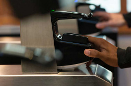 biometric scanner at UNH dining hall