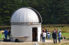 astronomy silo with fesitival participants