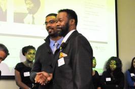 alfred mcclain with student