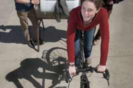 bicycle powered washing machine created by UNH students